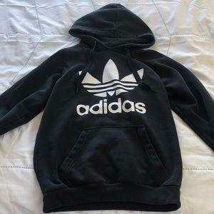 black adidas originals hoodie size small